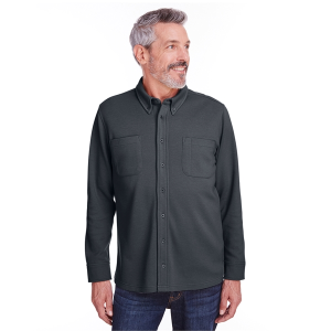Harriton Adult StainBloc™ Pique Fleece Shirt-Jacket